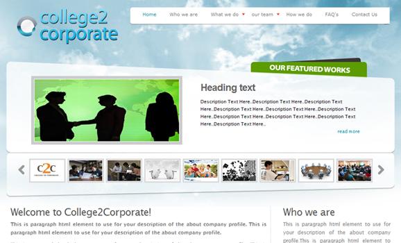 college 2 corporate web design company india